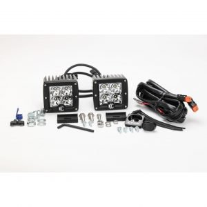 "3"" C-Series C3 LED Spot Beam Black Pair Pack System - #330"
