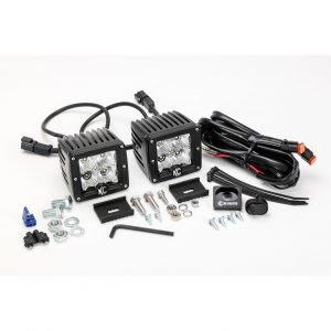 "3"" C-Series C3 LED Flood Beam Black Pair Pack System - #332"