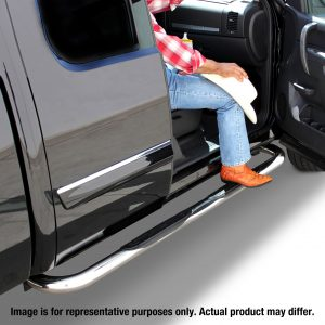 Go Rhino - 4078PS - 3in Tubular Side Bars for 2019 Chevy/GMC 1500 Crew Cab, Polished Stainless Finish