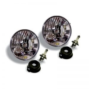 """7"""" Halogen H4 DOT Headlight Pair Pack System for 97-06 Jeep TJ - #42301"""