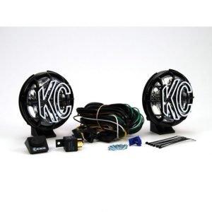 "5"" Apollo Pro Halogen Pair Pack System - Black - KC #451 (Spread Beam)"