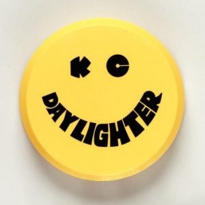 "6"" Plastic Cover - KC #5202 (Yellow with Black KC Daylighter Logo)"