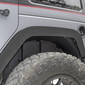 Go Rhino - 702002T - Jeep JK Rear Wheel Well Inner Fender Liners, Black Textured Alum Pair