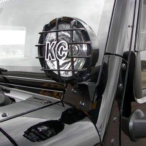 Windshield A-Pillar Light Mount Brackets for Jeep Wrangler JK 07-18 - #7316