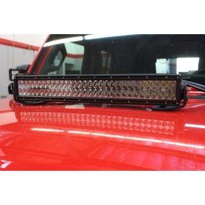 Go Rhino - 732200T - Jeep Wrangler JL & JLU Center Hood Mount 20in Double Row LED Bar
