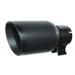 Go Rhino - GRT21248FB - Texture black powder coated Stainless Steel Exhaust Tip