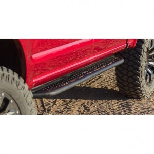 Go Rhino - D64205T - D6 Dominator Steel Side Steps-Black Textured Powdercoat with Mounting Brackets