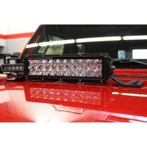 Go Rhino - 732100T - Jeep Wrangler JL & JLU Center Hood Mount 10in Double Row LED Bar