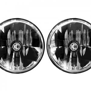 "Gravity LED 7"" Headlight DOT Jeep TJ 97-06/Universal H4 Pair Pack"