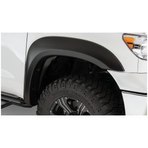 Bushwacker 30035-02 Black Extend-A-Fender Style Smooth Finish Front Fender Flares for 2007-2013 Toyota Tundra