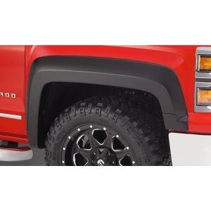 Bushwacker 40125-02 Black Extend-A-Fender Style Smooth Finish Front Fender Flares for 2019 Chevrolet Silverado 1500 LD, 2014-2018 Silverado 1500, 2015-2019 Silverado 2500 HD/3500 HD