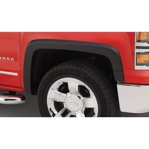 Bushwacker 40956-14 OE Style Color Matched Summit White 4-Piece Fender Flare Set for 2016-2018 Chevrolet Silverado 1500, 2017-2019 Chevrolet Silverado 2500 HD, 3500 HD (Excludes Dually)