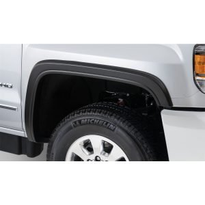 Bushwacker 40965-02 Black OE-Style Smooth Finish 4-Piece Fender Flare Set for 2015-2018 Sierra 2500 HD, 3500 HD
