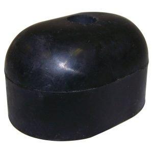 Crown Automotive - Rubber Black Spare Tire Bumper