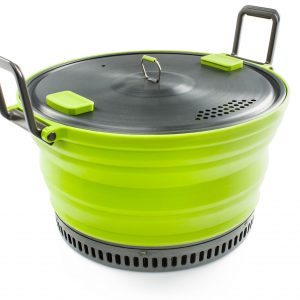 collapsible camp cooking pot