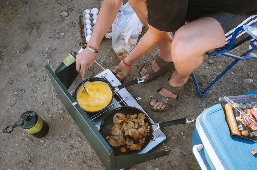 Overland Camping Breakfast