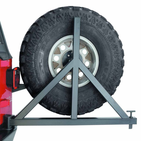 Warn DC Electric Industrial Winch 12 Ft Lead Spare Tire Carrier