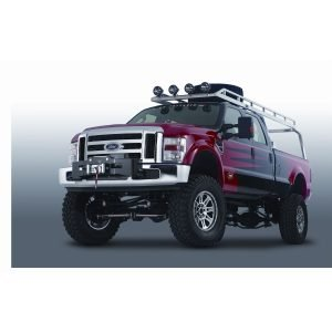 Warn One Piece Direct-Fit Mount Black Brush Guard
