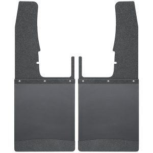 Kick Back Mud Flaps Front 12 Wide - Black Top and Black Weight