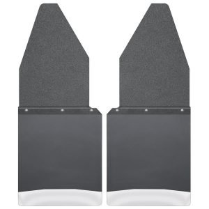 Kick Back Mud Flaps 12 Wide - Black Top and Stainless Steel Weight