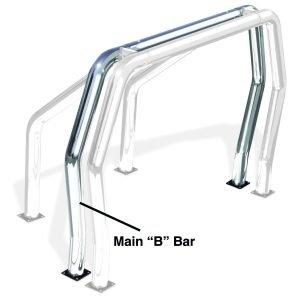 Go Rhino - 90002PS - Go Rhino! Bed Bars - inBin Main Bar