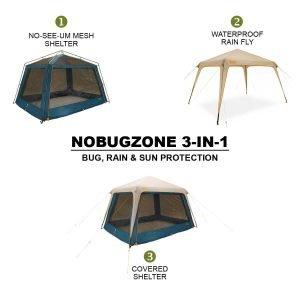 Eureka 2624531 Nobugzone 3-in-1 Shelter