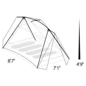 Eureka 2627814 Timberline® Sq Outfitter 4 Person Tent