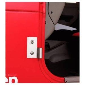 Smittybilt 7407 Smittybilt Lower Door Hinge Brackets - Stainless Steel Jeep, 76-06 Cj & Wrangler (Yj/tj/lj) 7407