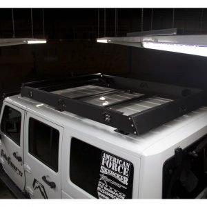 Fab Fours Universal 72in Roof Rack With 2-stage Matte Black Fab Fours RR72-1