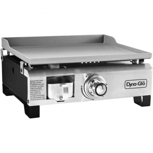 Dyna-Glo Stainless Steel Portable 17 inch Griddle - 18,000 BTU Propane